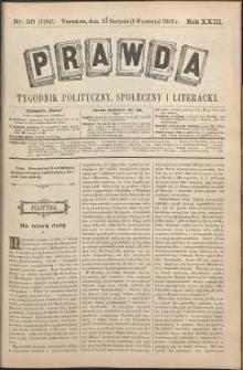 Prawda : tygodnik polityczny, społeczny i literacki, 1903, R. 23, nr 36