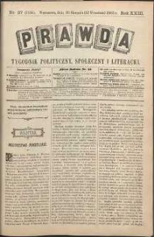 Prawda : tygodnik polityczny, społeczny i literacki, 1903, R. 23, nr 37