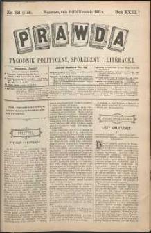 Prawda : tygodnik polityczny, społeczny i literacki, 1903, R. 23, nr 38