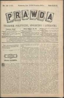 Prawda : tygodnik polityczny, społeczny i literacki, 1903, R. 23, nr 39