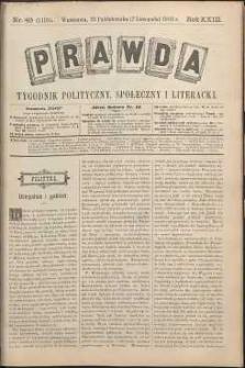Prawda : tygodnik polityczny, społeczny i literacki, 1903, R. 23, nr 45