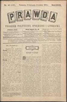 Prawda : tygodnik polityczny, społeczny i literacki, 1903, R. 23, nr 49