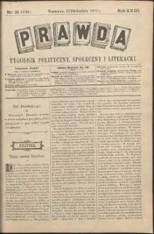 Prawda : tygodnik polityczny, społeczny i literacki, 1903, R. 23, nr 51