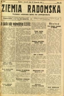 Ziemia Radomska, 1931, R. 4, nr 259