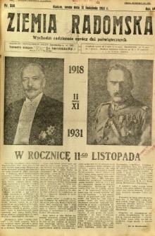 Ziemia Radomska, 1931, R. 4, nr 260
