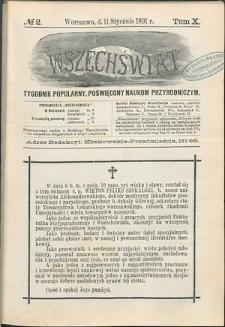 Wszechświat : Tygodnik popularny, poświęcony naukom przyrodniczym, 1891, T. 10, nr 2