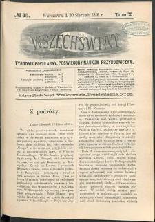Wszechświat : Tygodnik popularny, poświęcony naukom przyrodniczym, 1891, T. 10, nr 35