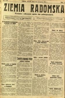 Ziemia Radomska, 1931, R. 4, nr 270