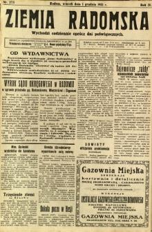 Ziemia Radomska, 1931, R. 4, nr 275