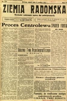 Ziemia Radomska, 1931, R. 4, nr 279