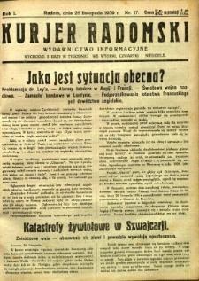 Kurier Radomski, 1939, R. 1, nr 17