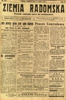 Ziemia Radomska, 1931, R. 4, nr 281