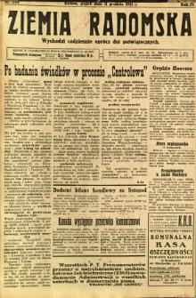 Ziemia Radomska, 1931, R. 4, nr 284