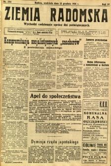 Ziemia Radomska, 1931, R. 4, nr 286