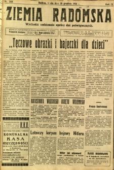 Ziemia Radomska, 1931, R. 4, nr 288