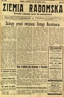 Ziemia Radomska, 1931, R. 4, nr 292