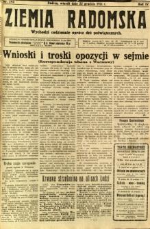Ziemia Radomska, 1931, R. 4, nr 293