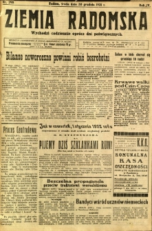 Ziemia Radomska, 1931, R. 4, nr 298