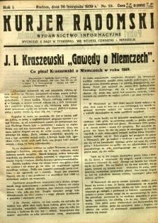 Kurier Radomski, 1939, R. 1, nr 19