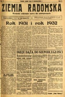 Ziemia Radomska, 1932, R. 5, nr 5