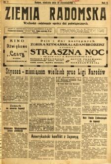 Ziemia Radomska, 1932, R. 5, nr 7