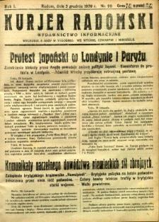 Kurier Radomski, 1939, R. 1, nr 20