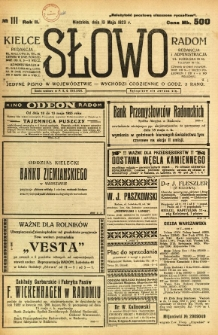 Słowo, 1923, R. 2, nr 111