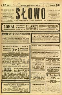 Słowo, 1923, R. 2, nr 117