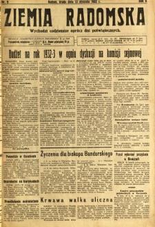 Ziemia Radomska, 1932, R. 5, nr 9