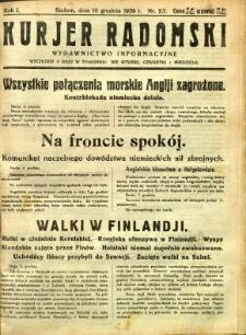 Kurier Radomski, 1939, R. 1, nr 23