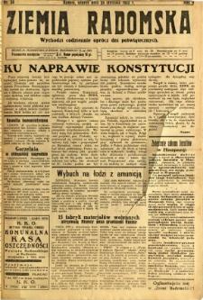 Ziemia Radomska, 1932, R. 5, nr 20