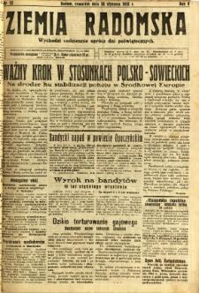 Ziemia Radomska, 1932, R. 5, nr 22