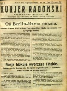 Kurier Radomski, 1939, R. 1, nr 24