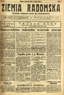Ziemia Radomska, 1932, R. 5, nr 27