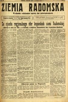 Ziemia Radomska, 1932, R. 5, nr 31