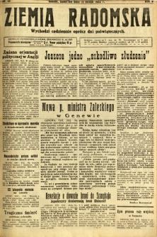 Ziemia Radomska, 1932, R. 5, nr 33