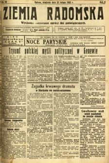 Ziemia Radomska, 1932, R. 5, nr 42