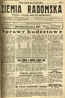 Ziemia Radomska, 1932, R. 5, nr 57