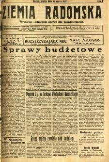 Ziemia Radomska, 1932, R. 5, nr 58