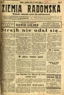 Ziemia Radomska, 1932, R. 5, nr 63