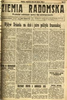 Ziemia Radomska, 1932, R. 5, nr 66