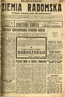 Ziemia Radomska, 1932, R. 5, nr 70