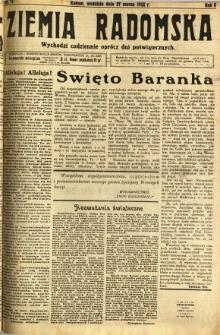 Ziemia Radomska, 1932, R. 5, nr 71