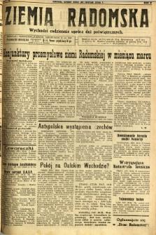 Ziemia Radomska, 1932, R. 5, nr 72