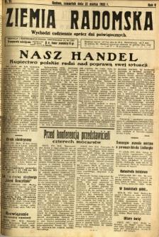 Ziemia Radomska, 1932, R. 5, nr 73