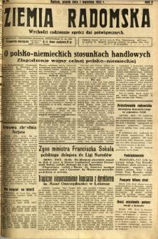 Ziemia Radomska, 1932, R. 5, nr 74