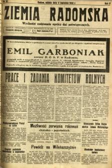 Ziemia Radomska, 1932, R. 5, nr 81