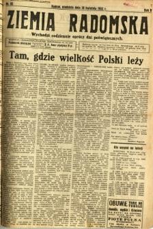 Ziemia Radomska, 1932, R. 5, nr 82