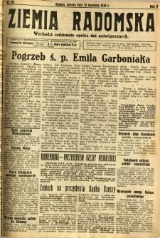 Ziemia Radomska, 1932, R. 5, nr 83