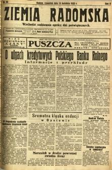 Ziemia Radomska, 1932, R. 5, nr 85